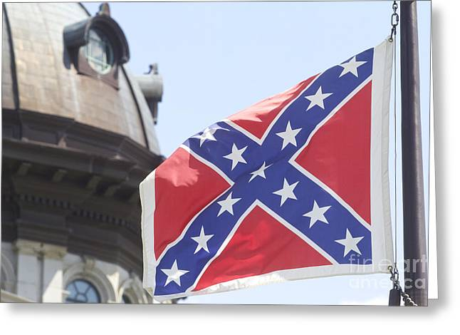 Confederate Flag Greeting Cards - Confederate Flag Color Greeting Card by Joseph C Hinson Photography