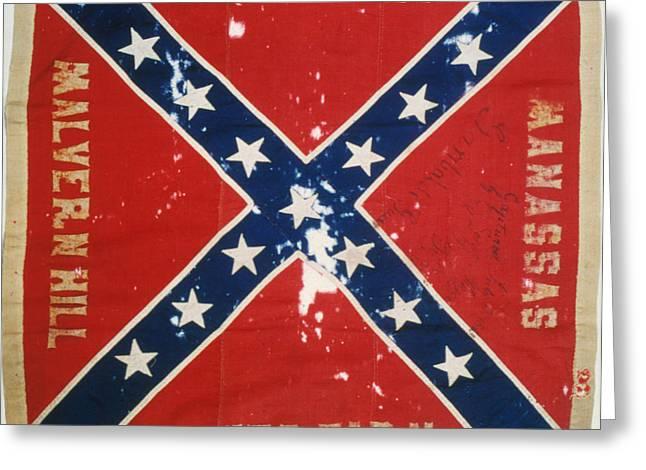 Confederate Flag Photographs Greeting Cards - Confederate Flag Greeting Card by Granger