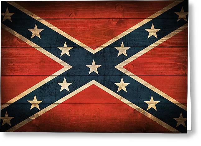 Confederate Flag Greeting Card by Taylan Soyturk