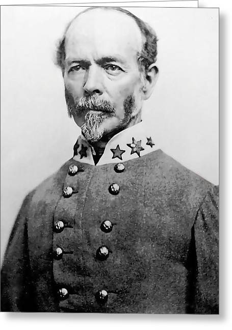 Johnston Greeting Cards - Confederate General Joseph E Johnston Greeting Card by Daniel Hagerman