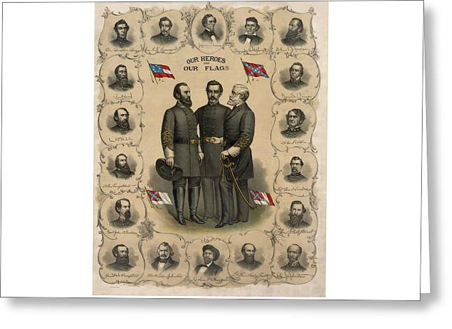 Confederate Generals of The Civil War Greeting Card by War Is Hell Store