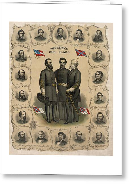 Confederate Flag Greeting Cards - Confederate Generals of The Civil War Greeting Card by War Is Hell Store