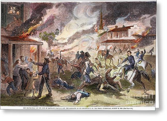 Invade Greeting Cards - Confederate Guerillas 1863 Greeting Card by Granger