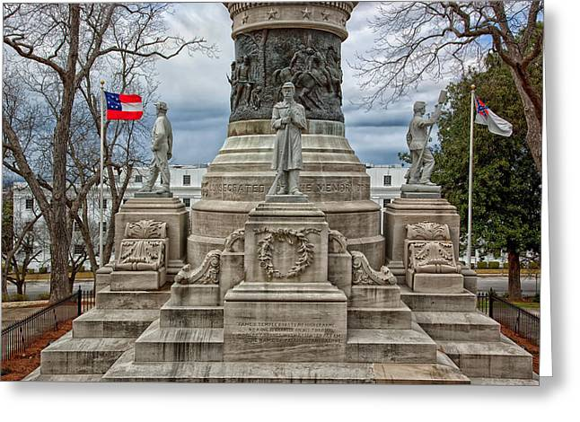 work Reliefs Greeting Cards - Confederate Memorial - Montgomery Alabama Greeting Card by Mountain Dreams
