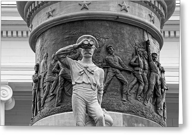 work Reliefs Greeting Cards - Confederate Memorial Monument - Montgomery Alabama Greeting Card by Mountain Dreams