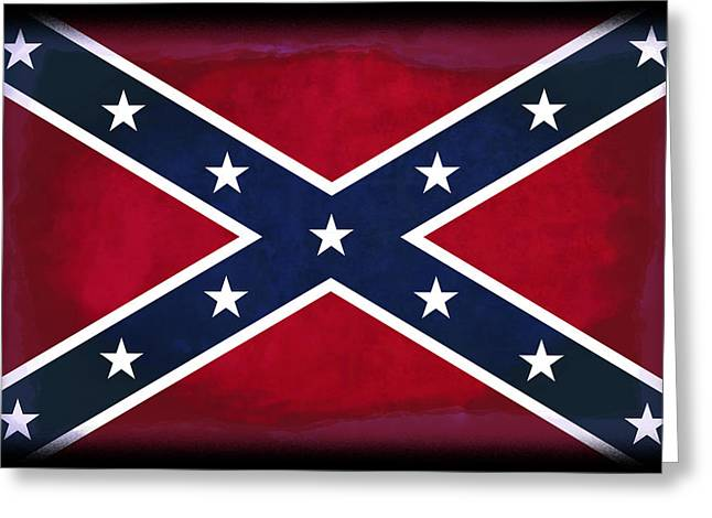 Recently Sold -  - Civil Greeting Cards - Confederate Rebel Battle Flag Greeting Card by Daniel Hagerman