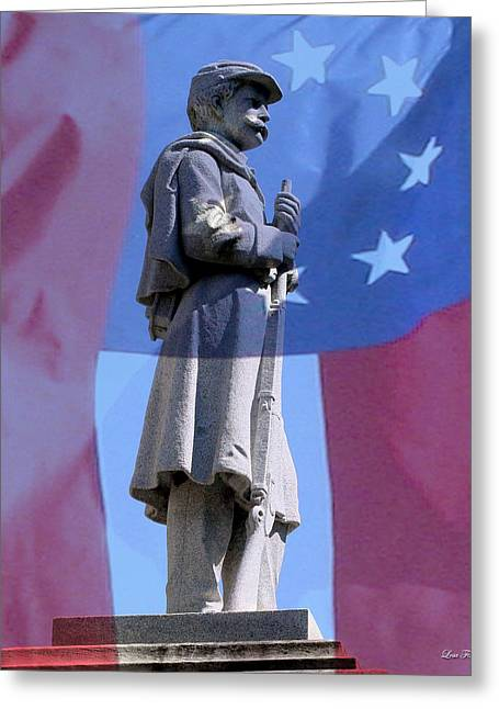 Historical Images Greeting Cards - Confederate Statue State of Alabama Capitol Building Greeting Card by Lesa Fine