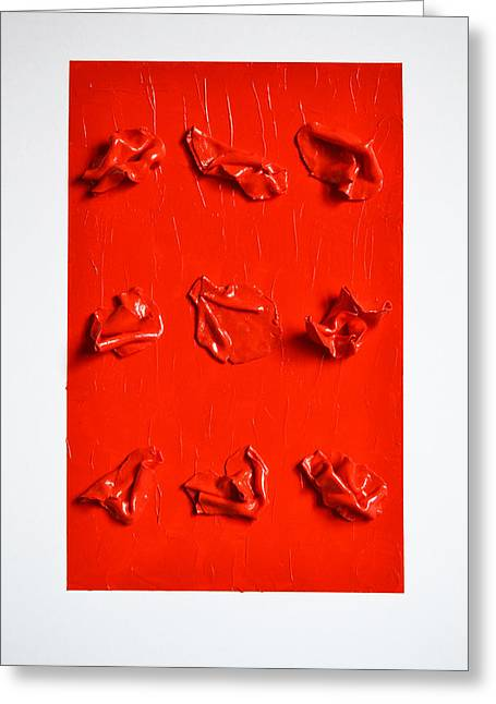 Red Abstract Sculptures Greeting Cards - Confessions Greeting Card by Natalia Sofyina