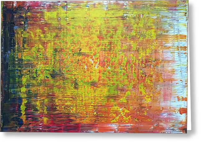Impressionist Greeting Cards - Confetti Fields Greeting Card by Brittany Houchin