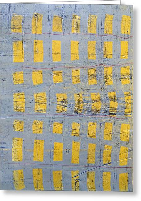 Blue Abstracts Reliefs Greeting Cards - Confetti Greeting Card by Francisco Gonzalez