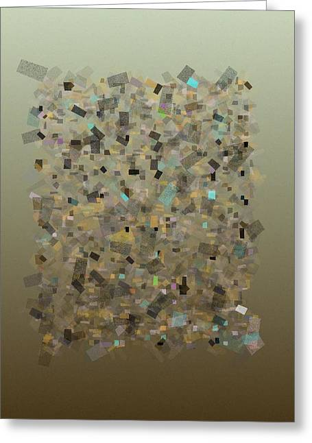 Generative Abstract Greeting Cards - Confetti Harmony 7-27-2015 #1 Greeting Card by Steven Harry Markowitz