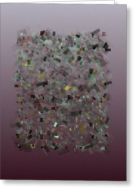 Generative Abstract Greeting Cards - Confetti Harmony 7-27-2015 #2 Greeting Card by Steven Harry Markowitz
