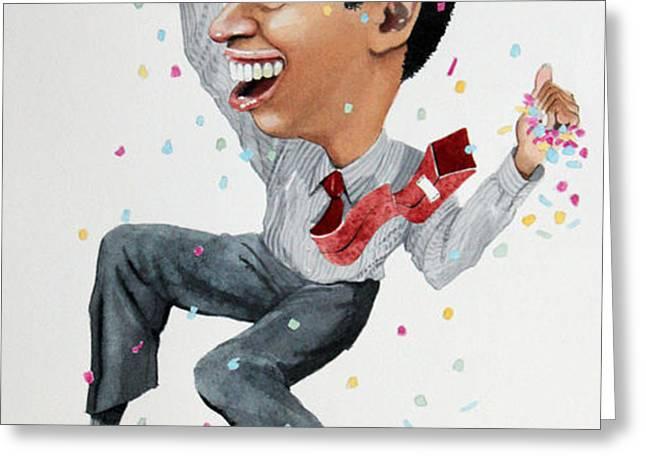 Confetti man Greeting Card by Denny Bond