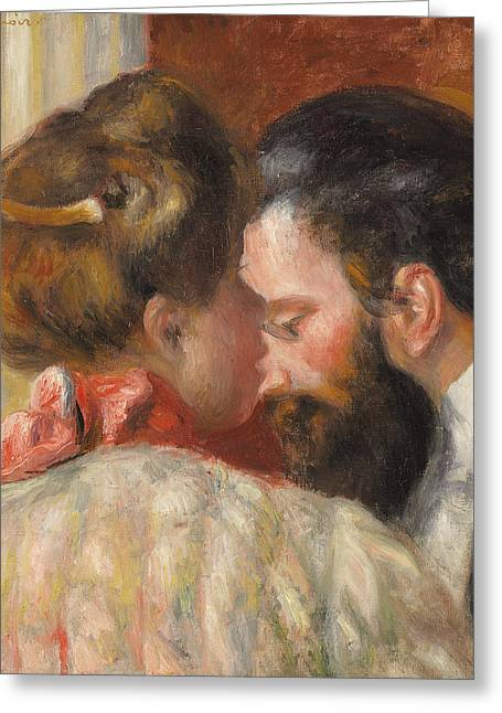 Man And Woman In Love Greeting Cards - Confidence Greeting Card by Pierre Auguste Renoir