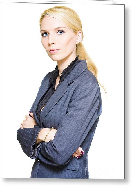 Confident Business Person Greeting Card by Jorgo Photography - Wall Art Gallery