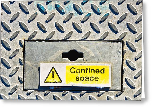 Confined Space Greeting Card by Tom Gowanlock