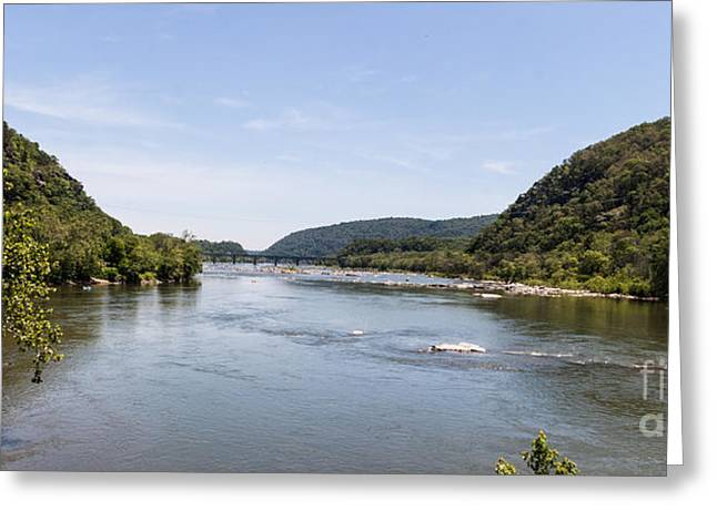 Confluence Of The Shenendoah River And Potomac River Greeting Card by Thomas Marchessault