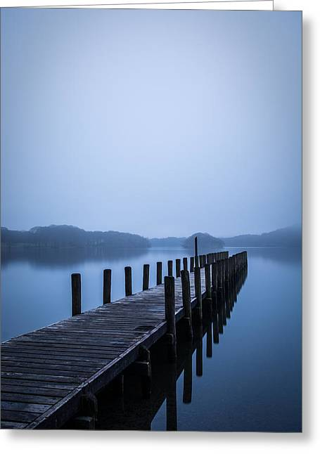 Recently Sold -  - Intrigue Greeting Cards - Coniston Blues. Greeting Card by Daniel Kay
