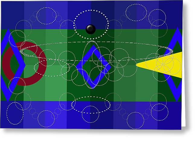 Digital Installation Art Greeting Cards - Geometry Greeting Card by Tina M Wenger