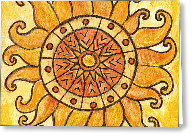 Solar Plexus Chakra Greeting Cards - Connected in Energy Greeting Card by Kristen Fagan