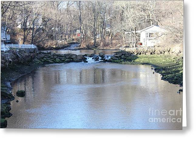 Babbling Greeting Cards - Connecticut Babbling Brook Greeting Card by John Telfer