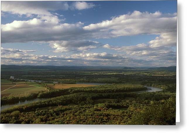 Connecticut River Greeting Cards - Connecticut River Mount Holyoke Greeting Card by John Burk