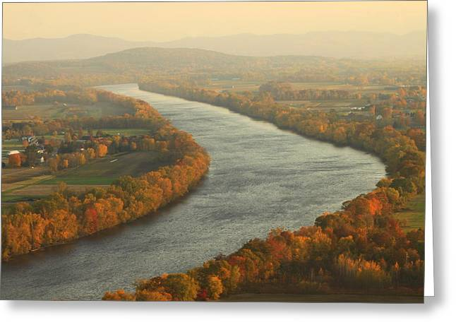Connecticut River Greeting Cards - Connecticut River Mount Sugarloaf Greeting Card by John Burk