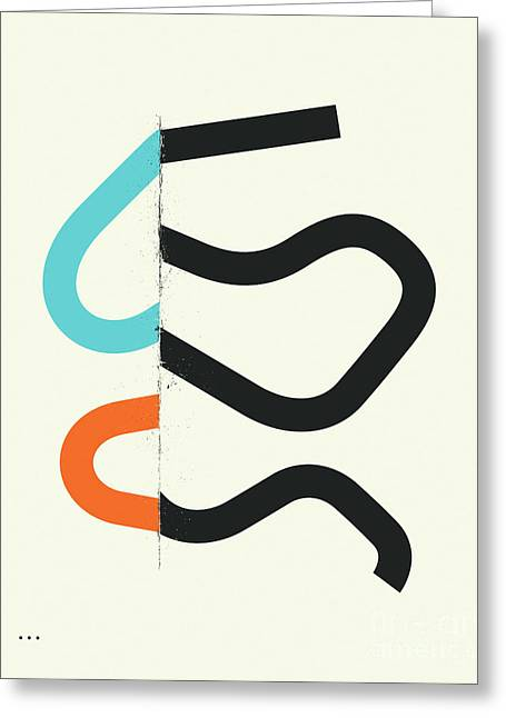 """""""geometric Abstract"""" Greeting Cards - Connections 7 Greeting Card by Jazzberry Blue"""