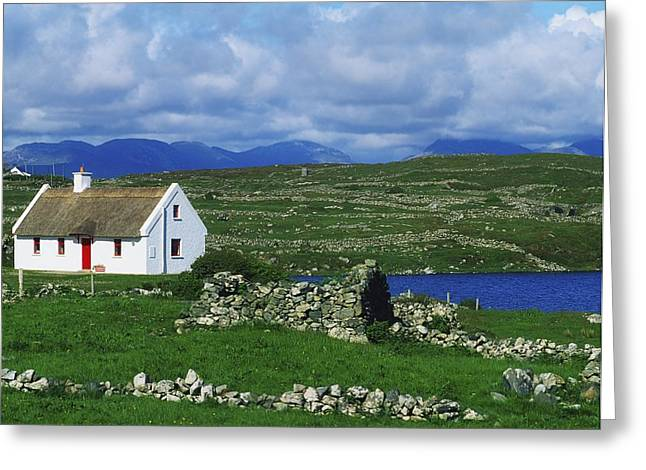 Connaught Greeting Cards - Connemara, Co Galway, Ireland Cottages Greeting Card by The Irish Image Collection