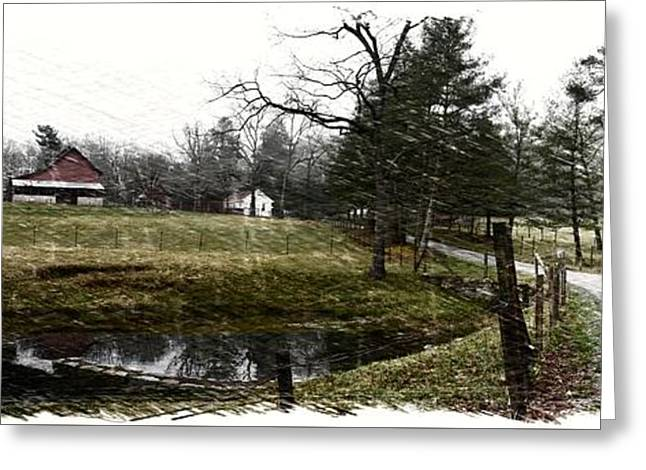 Historic Site Greeting Cards - Connemara Farms West Approach Sketch Greeting Card by Gary Conner