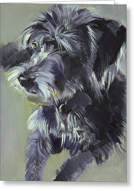 Puppies Greeting Cards - Connie Greeting Card by Sally Muir