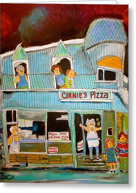 Pizza In The Pointe Greeting Card by Michael Litvack