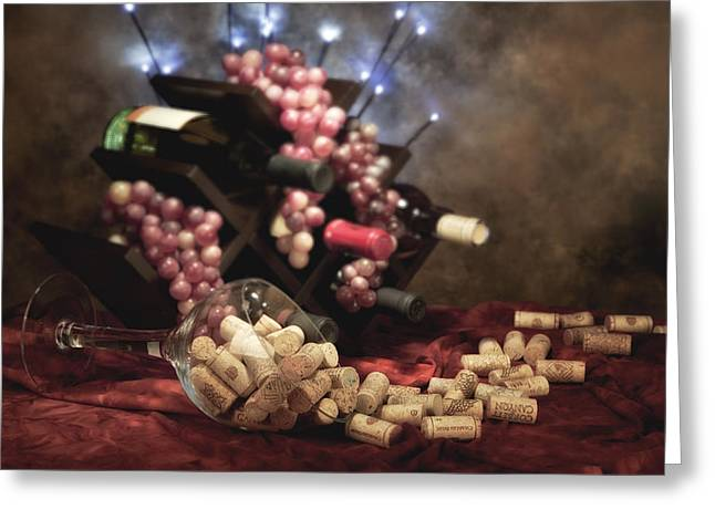 Wine Rack Greeting Cards - Connoisseur II Greeting Card by Tom Mc Nemar