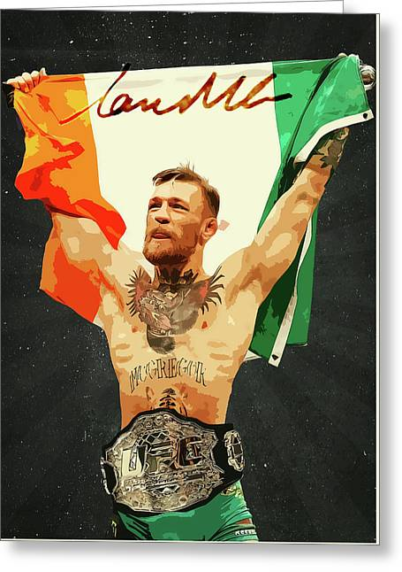 Conor Mcgregor Greeting Card by Semih Yurdabak