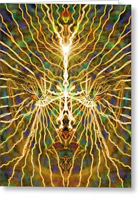 Conscious Digital Greeting Cards - Conscious Cosmic Wonder Greeting Card by Michael African Visions