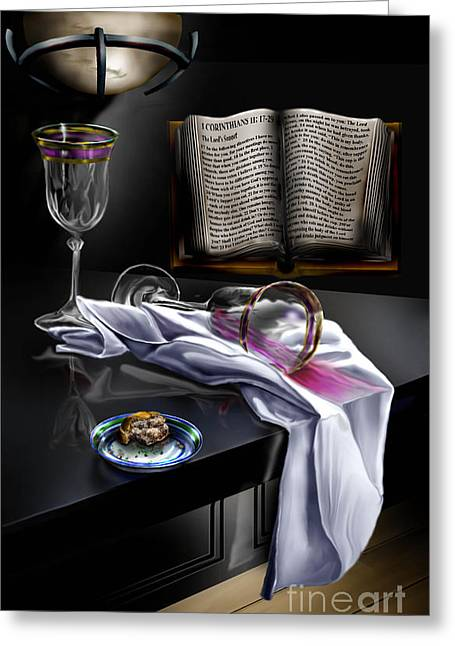 Table Wine Greeting Cards - Consecrated Greeting Card by Reggie Duffie