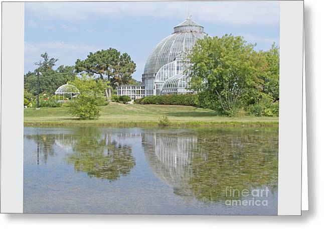 Stream Greeting Cards - Conservatory Reflected Greeting Card by Ann Horn