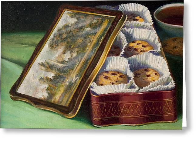 Constable Greeting Cards - Constable Cookie Tin Greeting Card by Lydia Martin