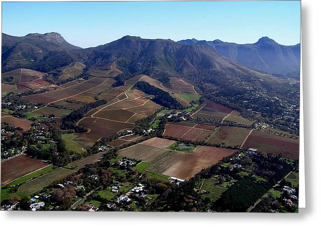 Cape Town Greeting Cards - Constantia Vineyards by Air Greeting Card by Michael Durst