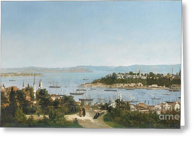 1874 Greeting Cards - Constantinople From Galata Greeting Card by Celestial Images