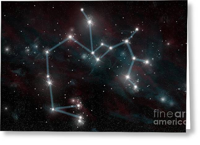 Constellation Of Sagittarius The Archer Greeting Card by Marc Ward