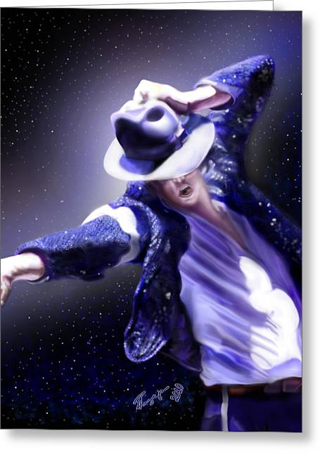 The King Of Pop Greeting Cards - Constellation - Slot 89 Greeting Card by Reggie Duffie