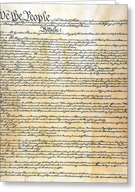 Convention Greeting Cards - Constitution Greeting Card by Granger