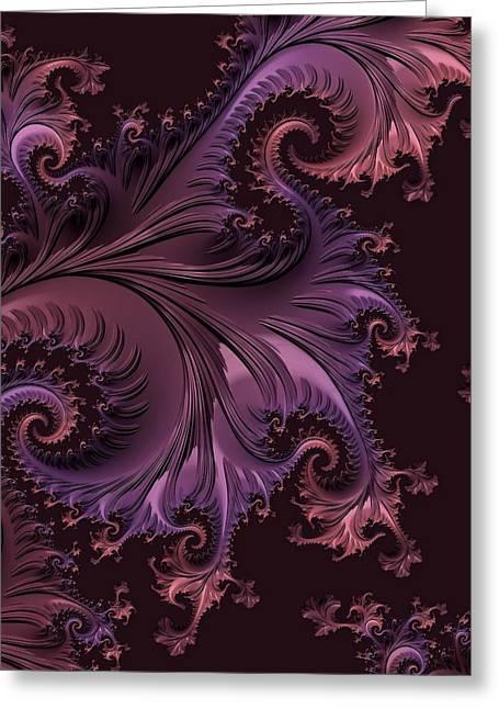 Floral Digital Art Digital Art Greeting Cards - Constructing Warmth Greeting Card by Susan Maxwell Schmidt