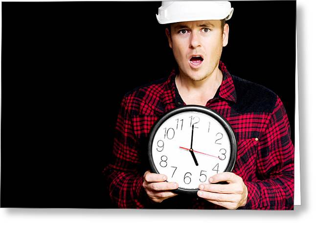 Construction Project Running Over Schedule Greeting Card by Jorgo Photography - Wall Art Gallery