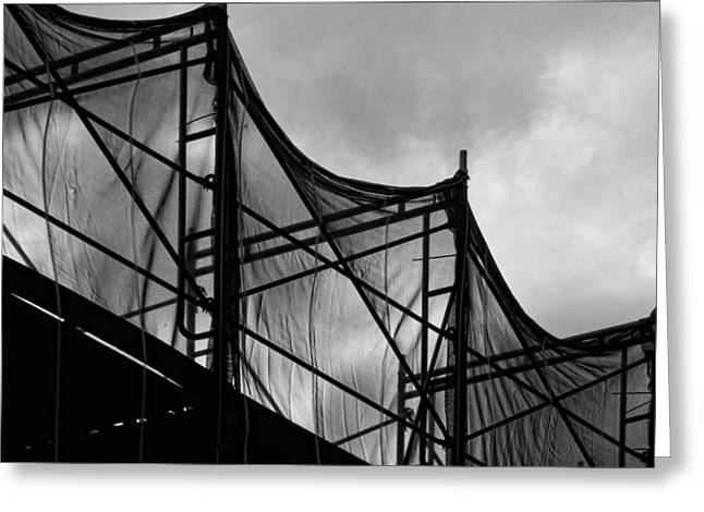 Netting Greeting Cards - Construction Site Greeting Card by Robert Ullmann