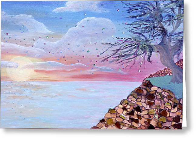 Surreal Landscape Greeting Cards - Contemplation Greeting Card by Adrianna Auriemma