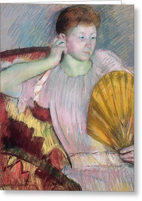 Contemplation Greeting Card by Mary Stevenson Cassatt