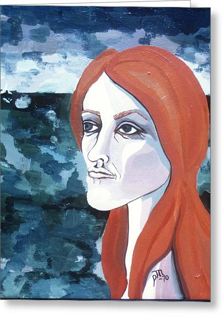 Contemplation Of Serenity Greeting Card by Pamela Maloney