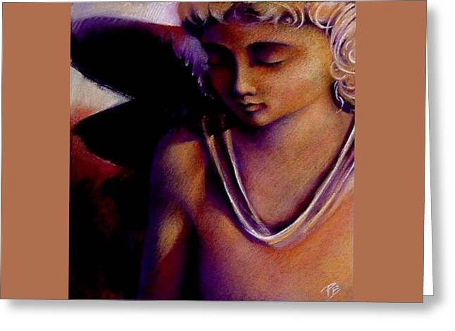 Figural Pastels Greeting Cards - Contemplation Greeting Card by Paul Birchak